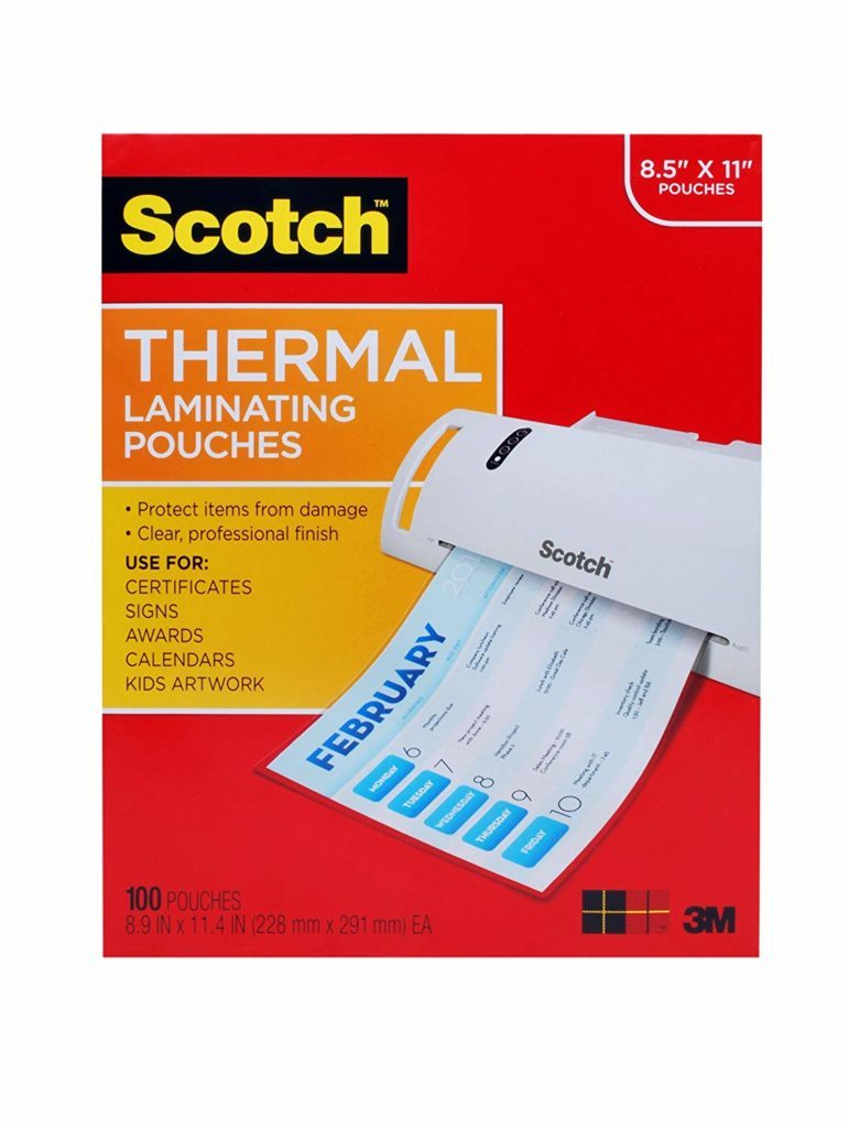 Free Teacher Supplies – Laminating Pouches