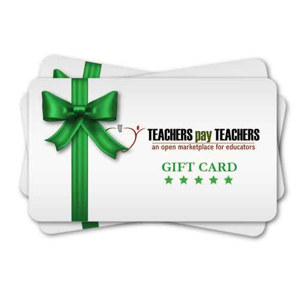 Free Teacher Supplies – TPT Gift Card